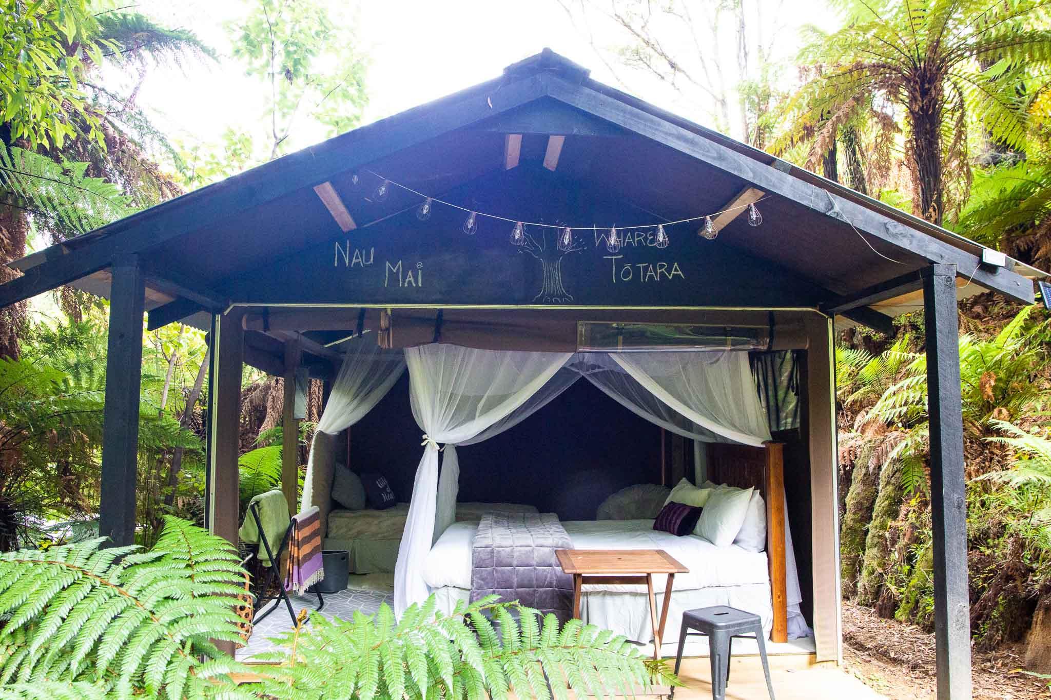 Whare Totara, Whakatau Eco Bushcamp