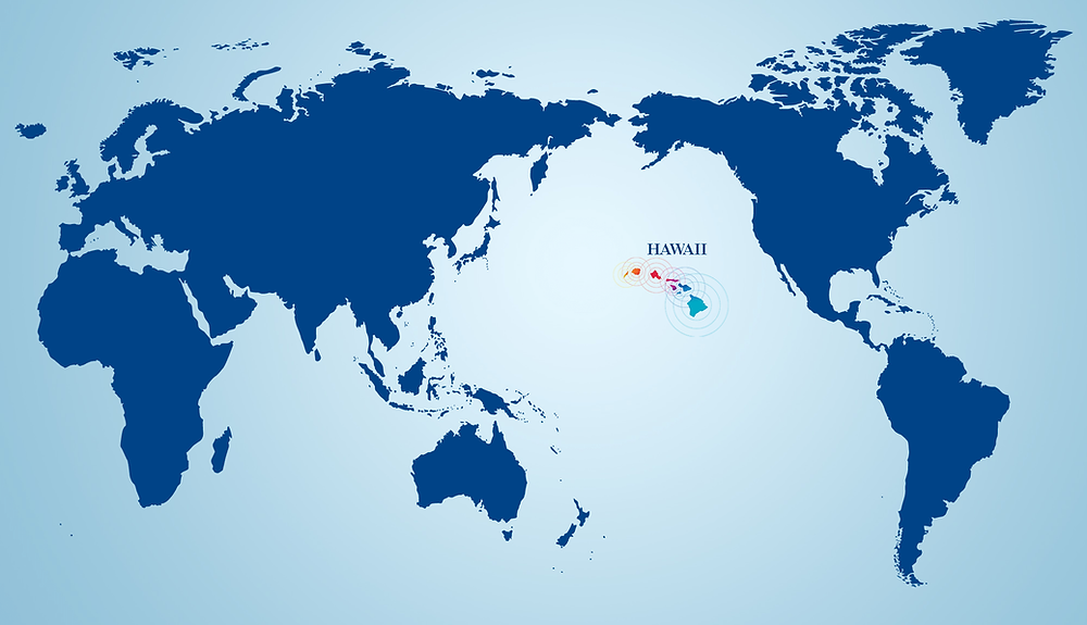 Cartina Mondo Hawaii.Dove Si Trovano Le Hawaii