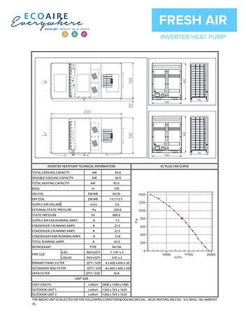 Fresh air Inverter Heatpump - Technical