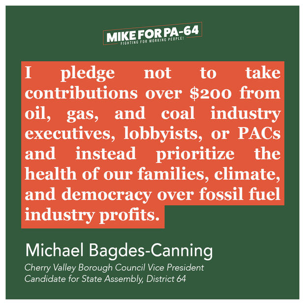 No Fossil Fuel Money Pledge