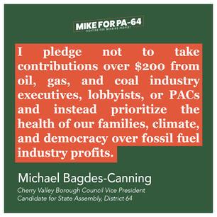 No Fossil Fuel Money Pledge