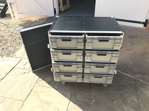 Roll Cabinet - 8 Drawer x 2 (single piece front cover)