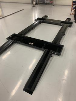 Aluminium set up floor