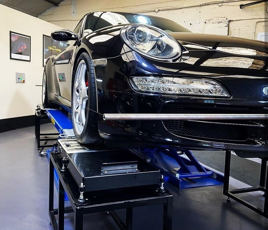 Porsche corner weight wheel alignment