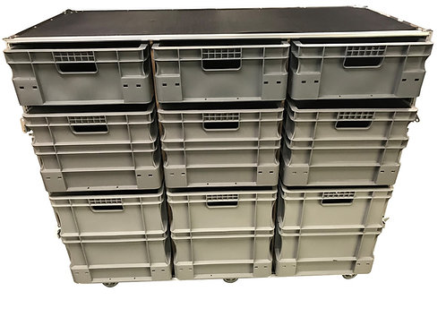 Roll Cabinet With Storage Boxes (single piece front covers)