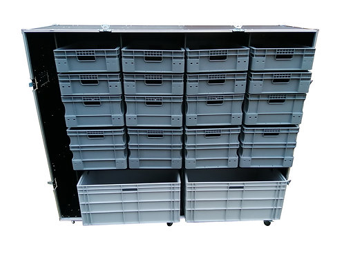 Roll Cabinet With Storage Boxes (single piece front cover) XXL