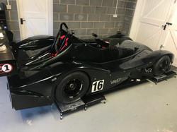 Race car set up platform ramps