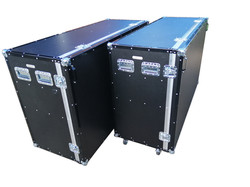 Euro container roll cabinet flight case