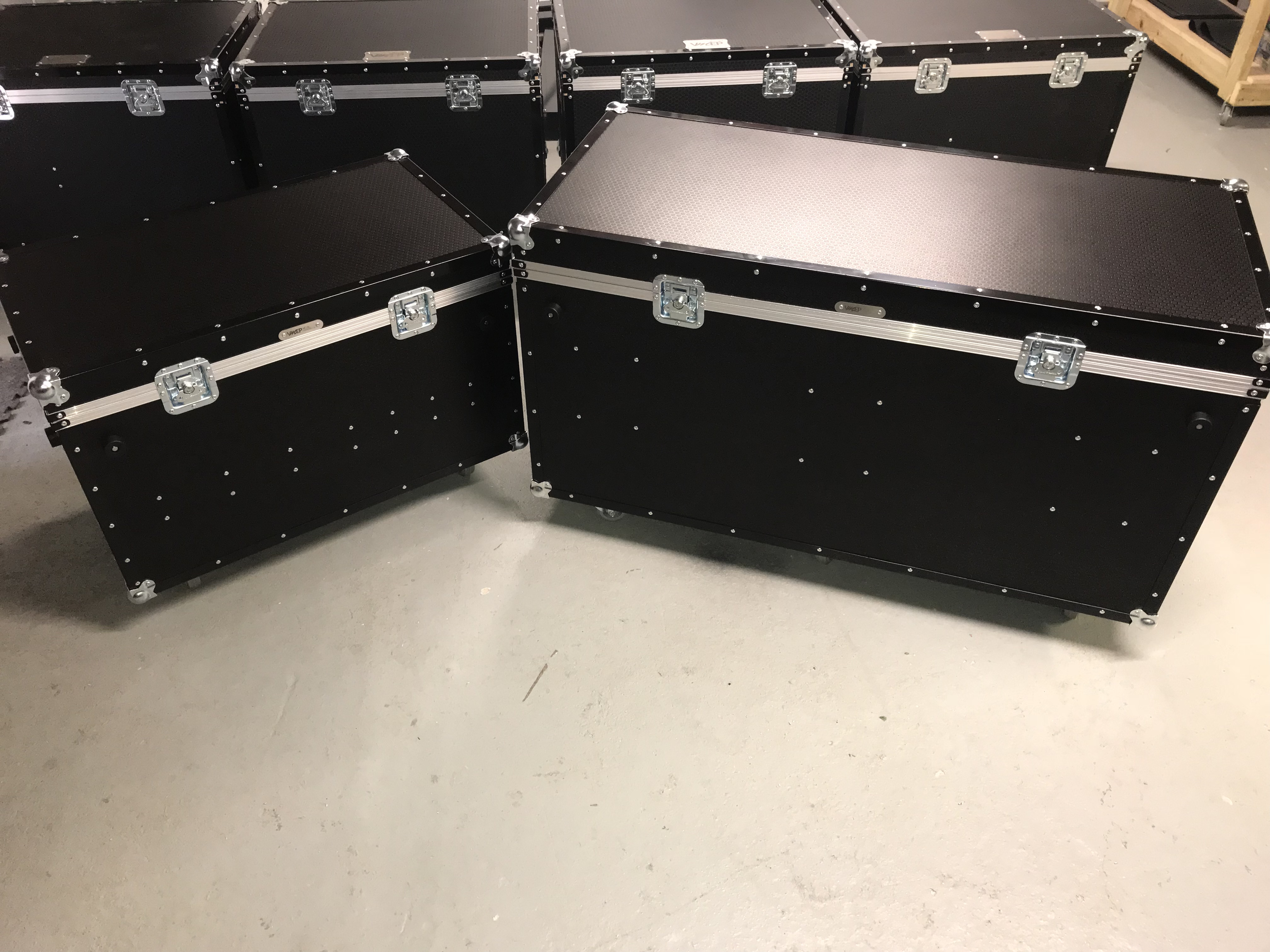 Custom made set up floor flightcases