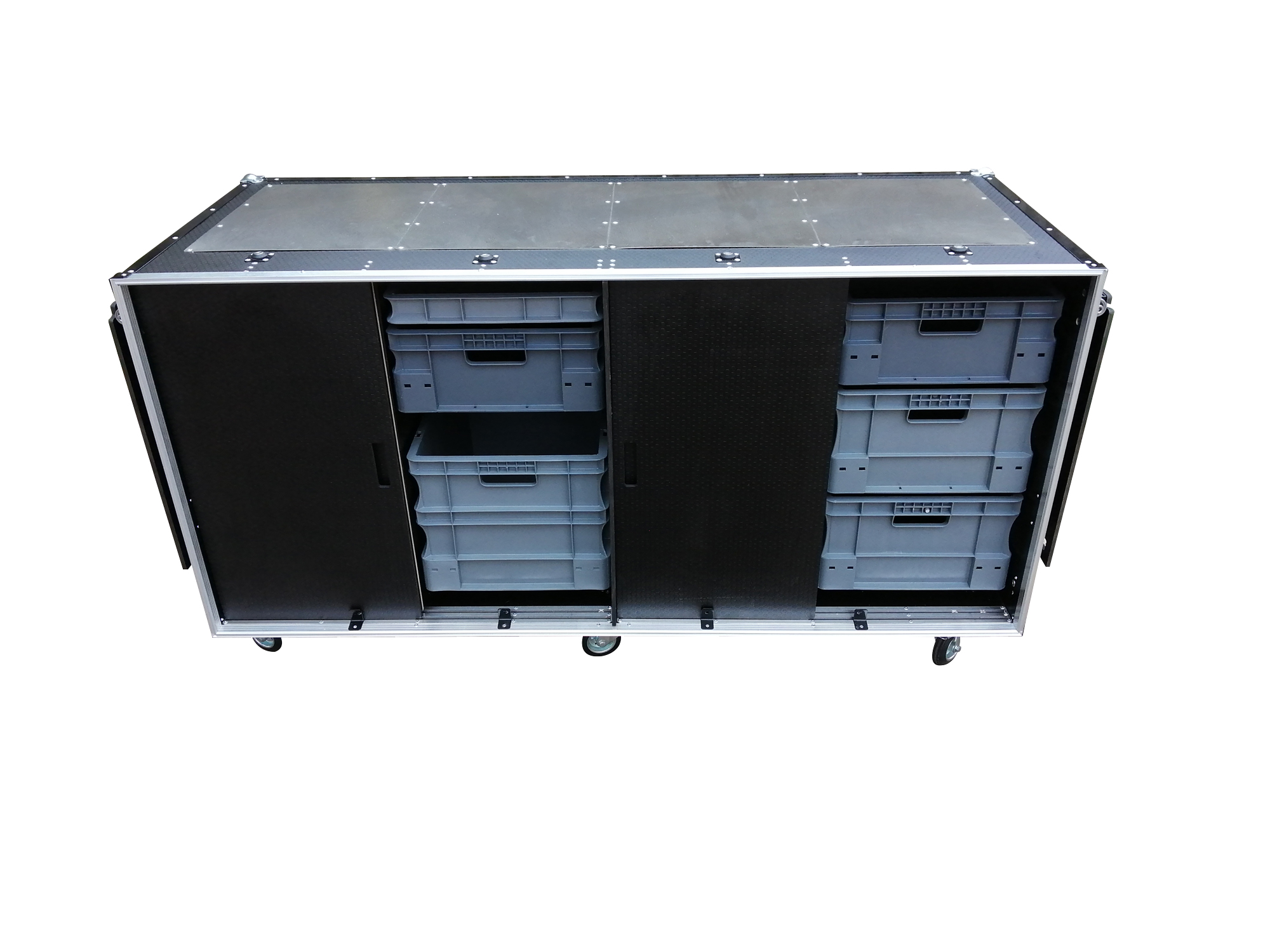 Euro crate trailer flight case roll cabinet
