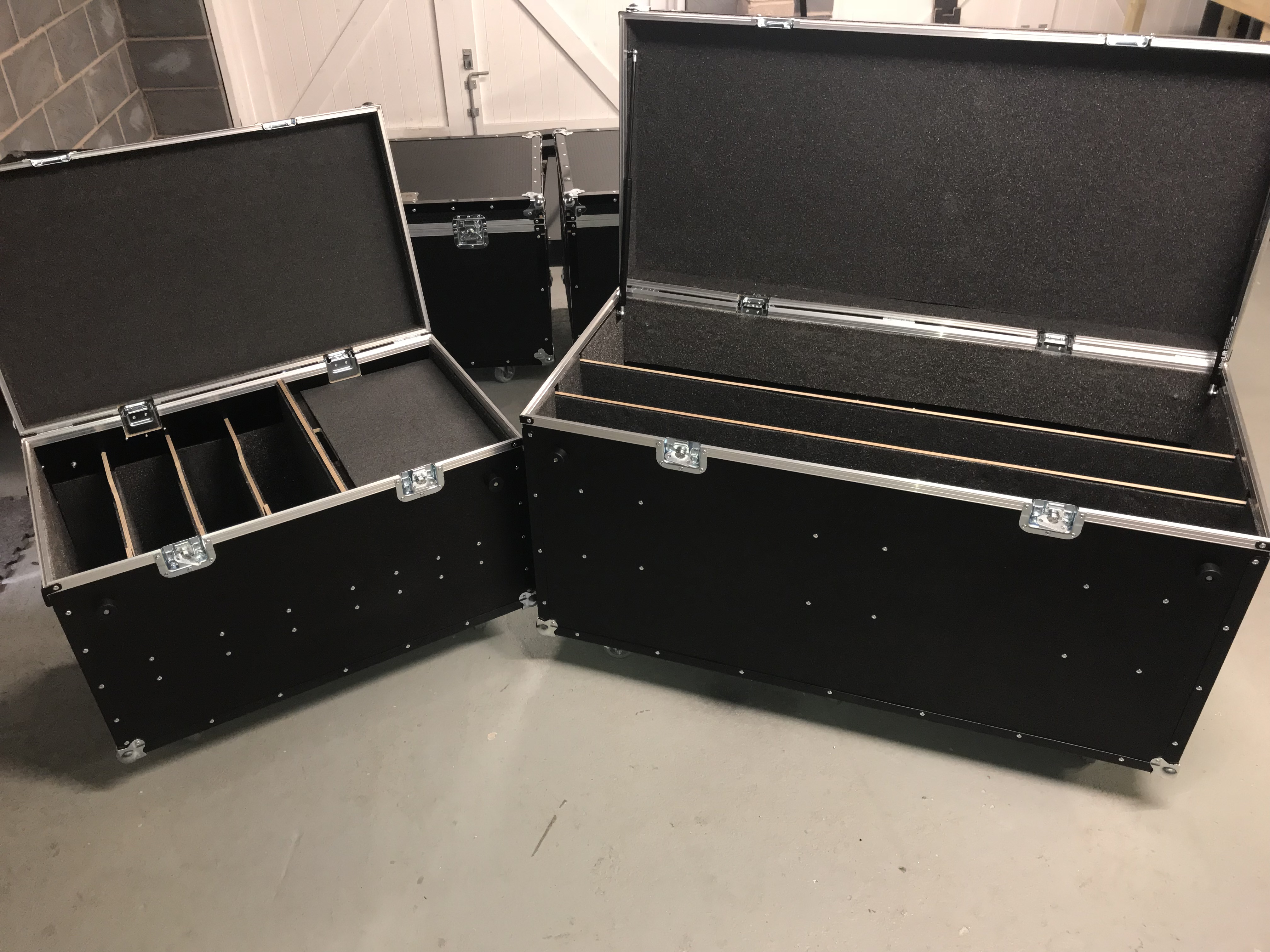 Partitioned flightcase