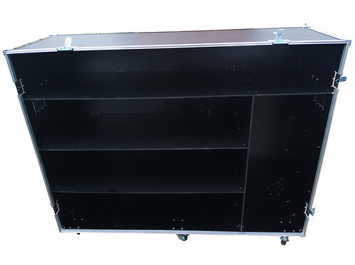Wheeled Flight Case With Shelves and Single Piece Front Cover