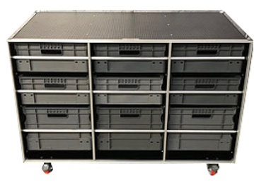 Open Front Roll Cabinet - 9 Boxes
