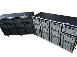 Large euro container flight case