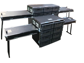 Flight case bench