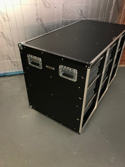 Flight case with boxes