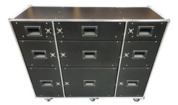 Flight case roll cabinet
