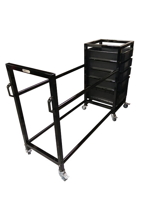 Tyre Rack With Removable Storage Boxes - 800mms