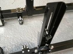 Laser tracking gauges sticks