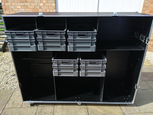 Car Pit Roll Cabinet With Storage Boxes (single piece front cover)