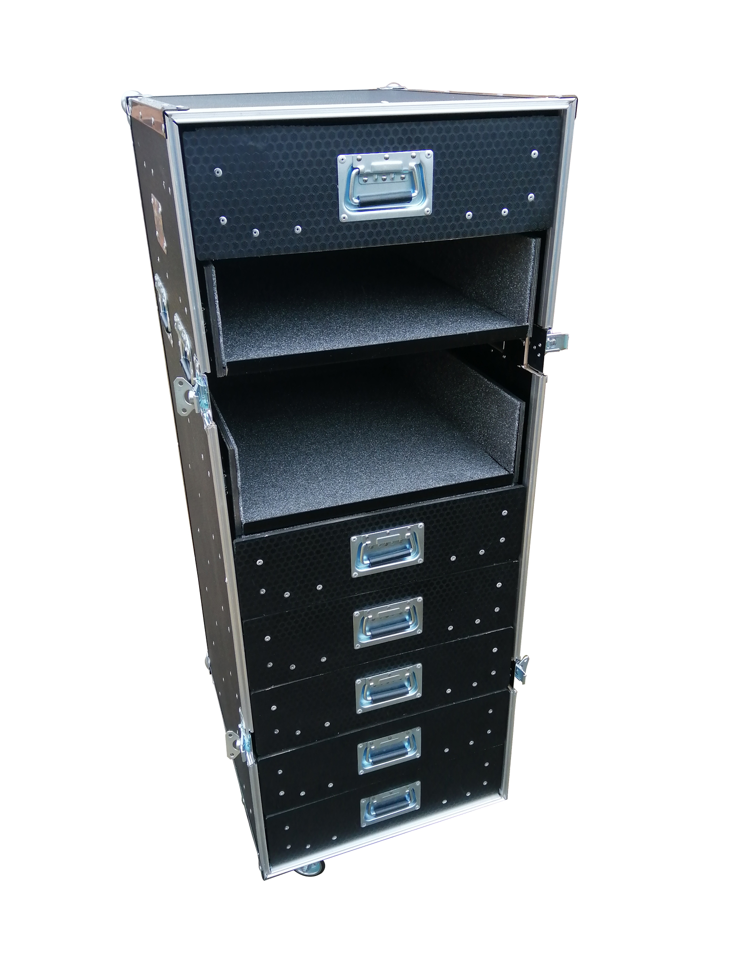 Flight case computer filing cabinet