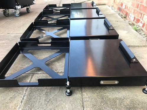 Set Of Four Pad Levellers With Roll Off Platforms + Bump Steer Gauge