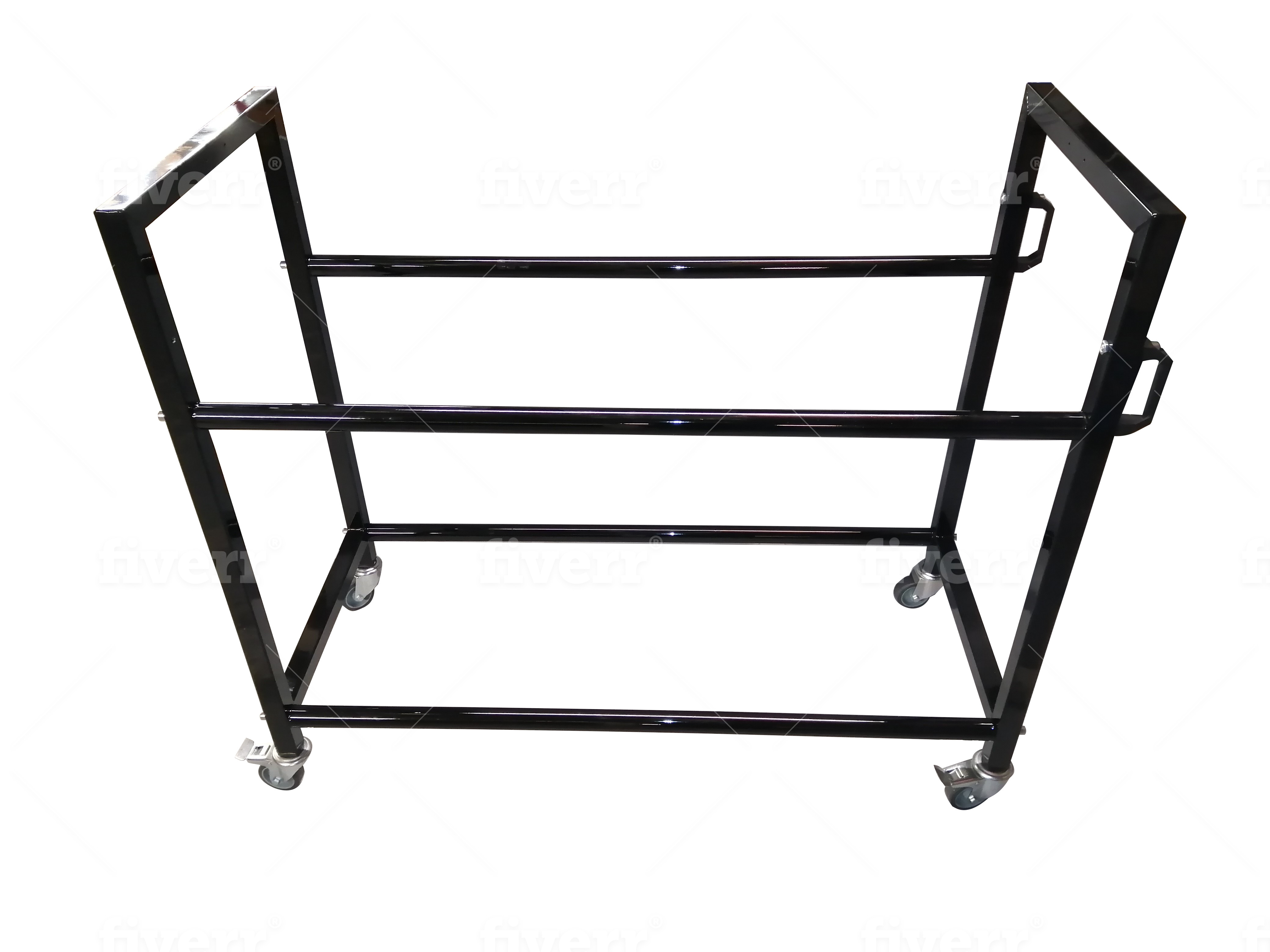 Race car tyre rack