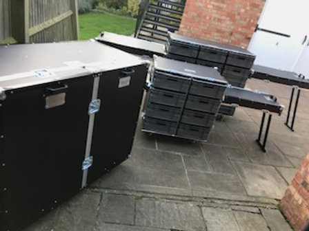 Roll Cabinet Kit - 2 x large 1 x small (with lids folding into benches)