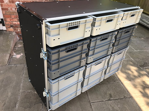 Roll Cabinet With Storage Boxes x 2 (with single piece covers)