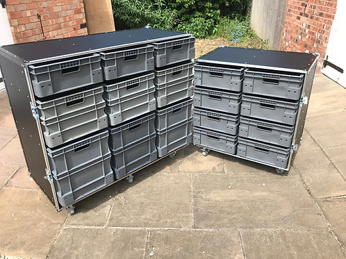 Pit Kit - 1x large ,1 x small (with lids folding into benches) & tyre rack