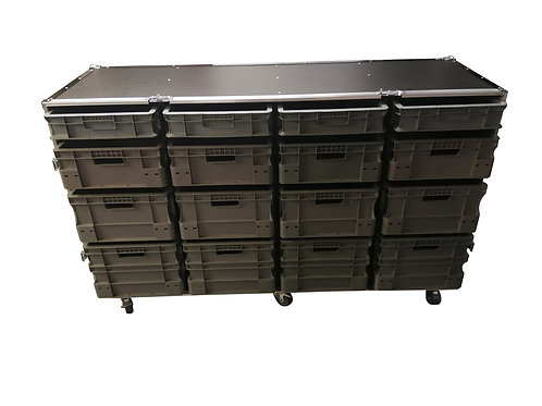 Roll Cabinet With Storage Boxes (single piece front covers) - XL