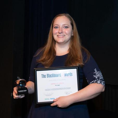 Ms. Festo wins a 2019 Blackboard Award!