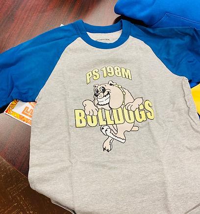 PS198 baseball shirts