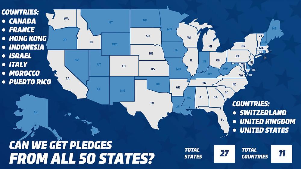 2020 Dance Fit Fundraiser Pledge Locations