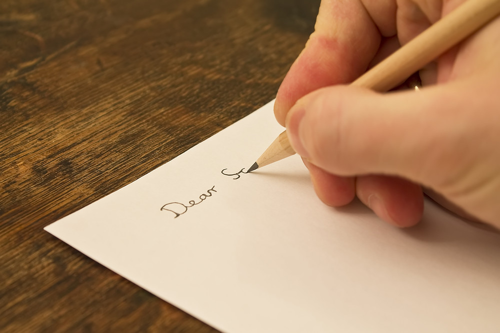כתיבת מכתב רשמי