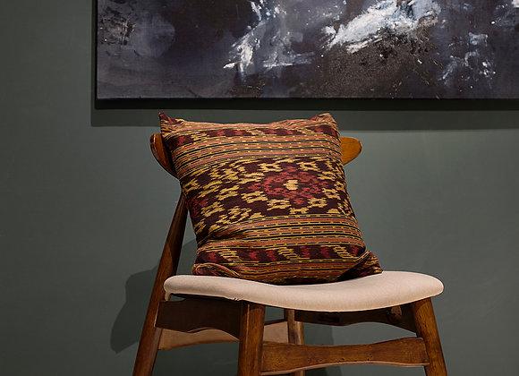 Ikat Cushion - Brown