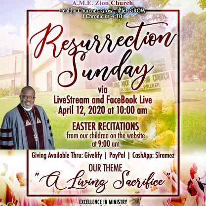 Little Rock AME Zion Church Resurrection Sunday Service