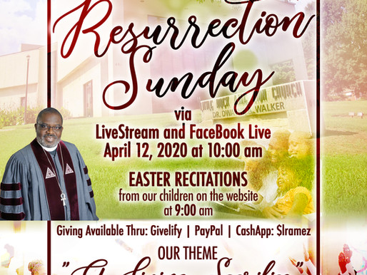 Little Rock AME Zion Church Resurrection Sunday Service