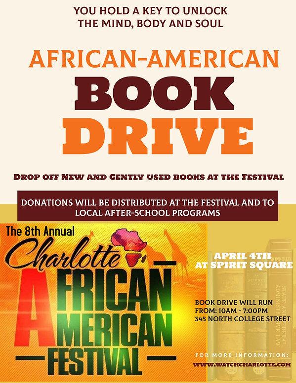 Book Drive Charlotte African-American Fe
