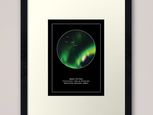 "All the other girls here are stars you are the Northern Lights, Josh Ritter's ""Kathleen"" Lyric Print"