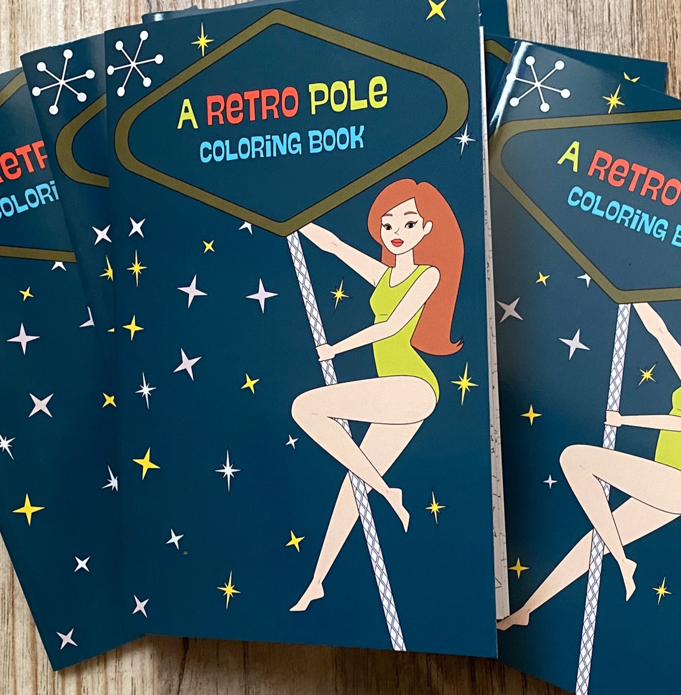 Retro Pole Coloring Book