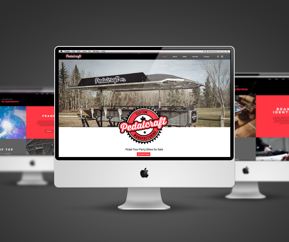 PedalCraft Manufacturing Website