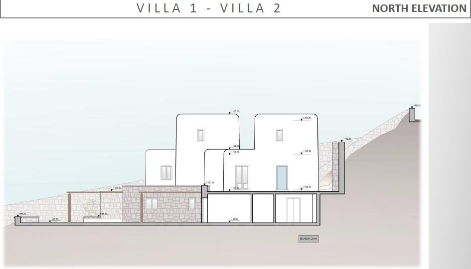 Lux Villa in Mykonos - North Elevation