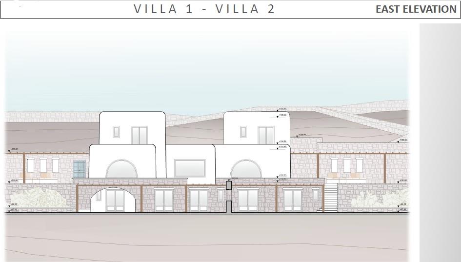 Lux Villa in Mykonos - East Elevation