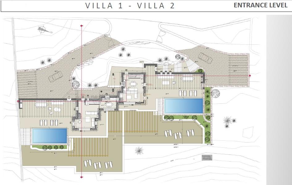 Lux Villa in Mykonos - Entrance Level