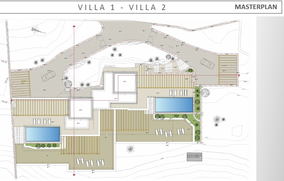 Lux Villa in Mykonos - Masterplan