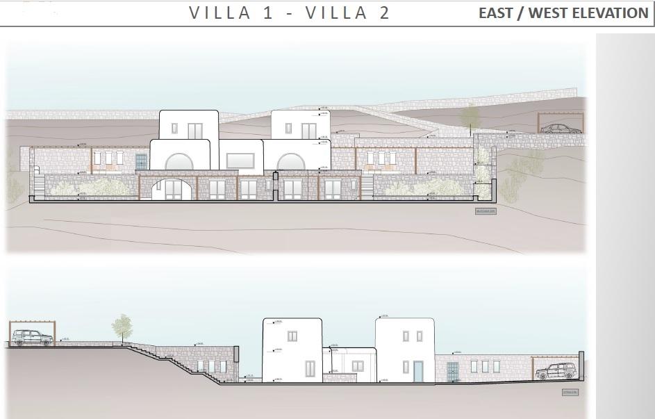 Lux Villa in Mykonos - East West Elevati
