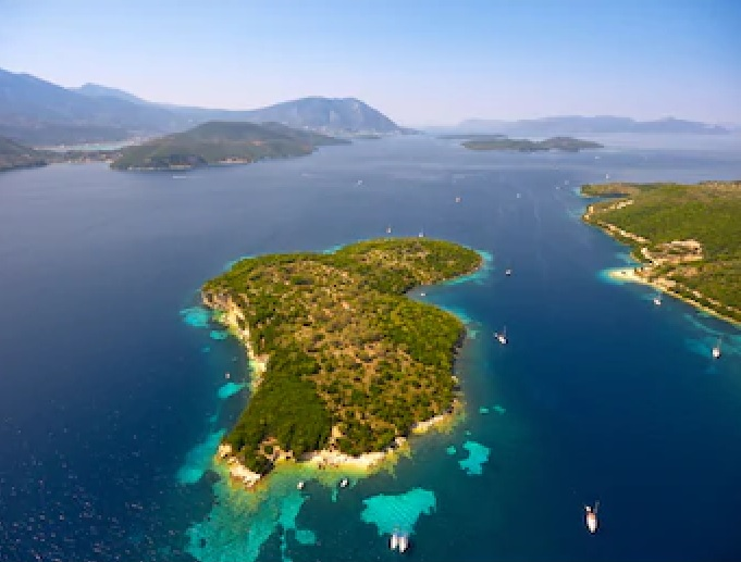 Island of Thilia-Aerial View