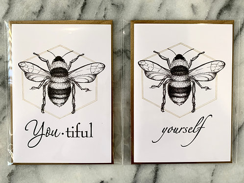 Bee-YOU-tiful & Bee-YOUrself Card Set