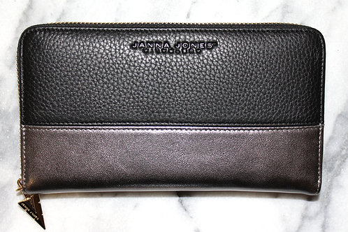 GUNMETAL GALLERIA PURSE
